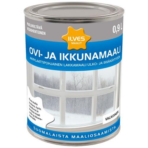 ILVES OVI- JA IKKUNAMAALI A-POHJA VALKOINEN 0,9L 900 ML