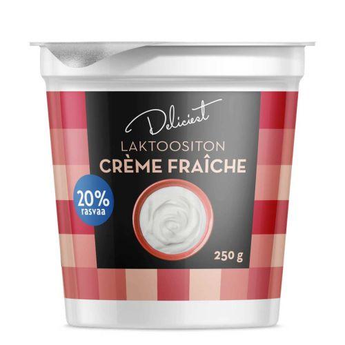 DELICIEST CREME FRAICHE 20% LAKTON 250 G