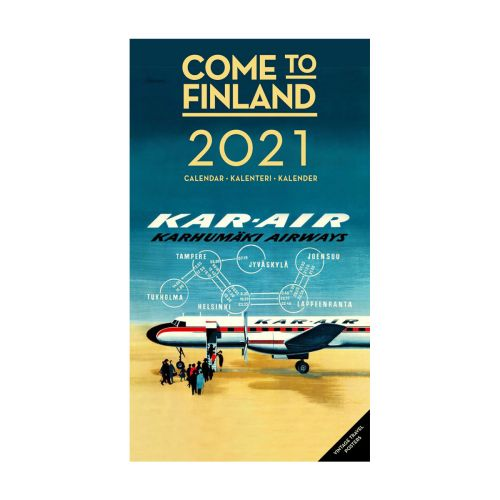 COME TO FINLAND SEINÄKALENTERI 2021 VINTAGE