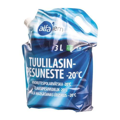 ALFAKEM TUULILASINPESUNESTE ETANOLI -20 PUSSISSA 3 L
