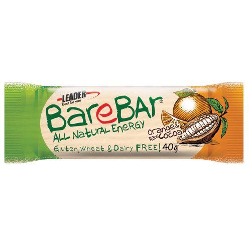 Leader BareBar Energy Appelsiini-Kaakao Lakton Gton 40 g