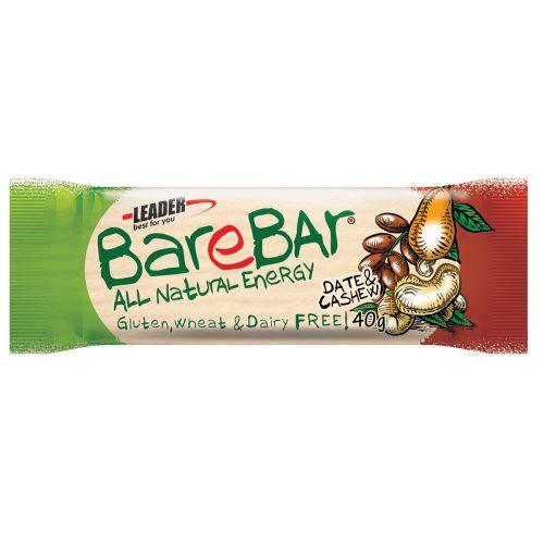 Leader BareBar Energy Taateli-Cashew Lakton Gton 40 g