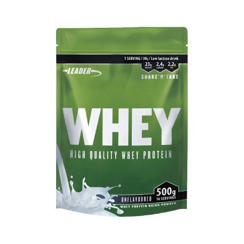 Leader Whey Protein+ Proteiinijauhe Maustamaton 500 g