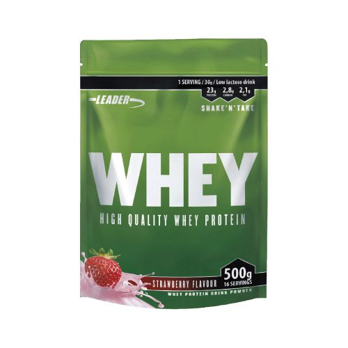 Leader Whey Protein+ Proteiinijauhe Mansikka 500 g