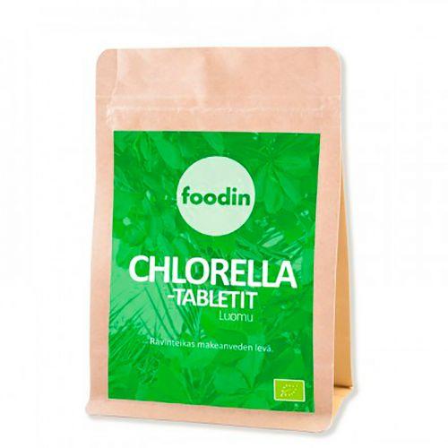 FOODIN CHLORELLA-TABLETIT LUOMU RAAKA 100 G