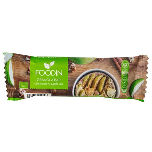 FOODIN GRANOLA BAR CINNAMON APPLE LUOMU 40 G