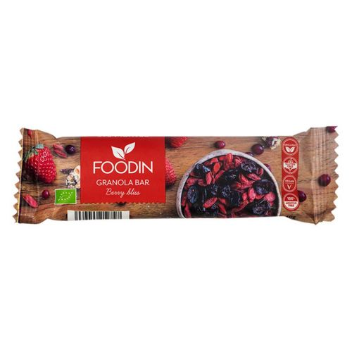 FOODIN GRANOLA BAR BERRY BLISS LUOMU 40 G