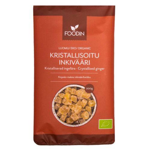 FOODIN KRISTALLISOITU INKIVÄÄRI, LUOMU, 200G 200 G