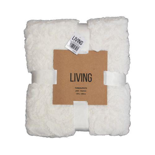 Living torkkupeite 130x160cm valkoinen