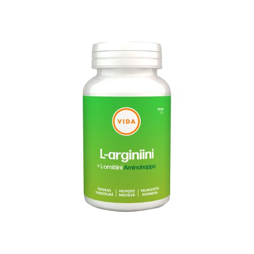 VIDA L-ARGINIINI + L-ORNITIINI 90 KPL