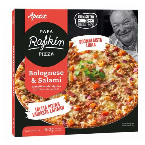 APETIT PAPA RAFKIN PIZZA BOLOGNESE-SALAMI 400 G