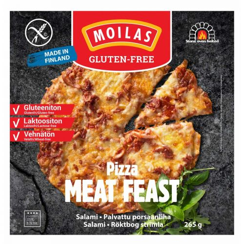 MOILAS PIZZA MEAT FEAST GTON 265 G