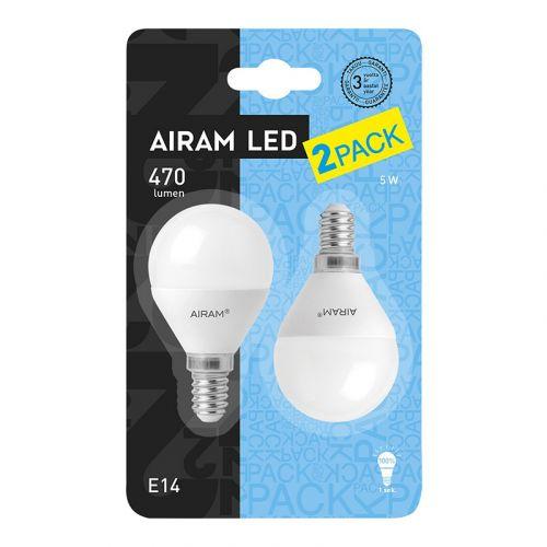 AIRAM LED 2PACK 5W MAINOS 2BL E14  2800K 470LM