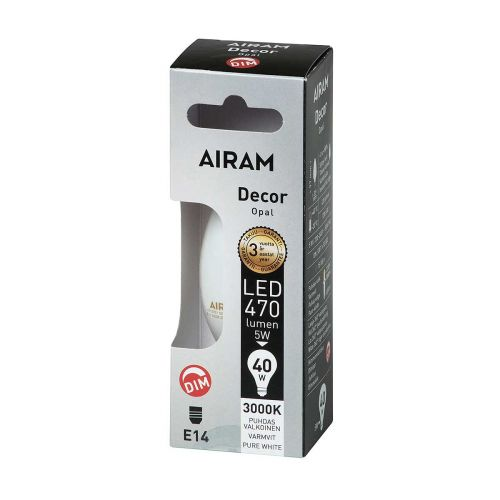 Airam led Decor kynttilä opaali 5W E14 470lm