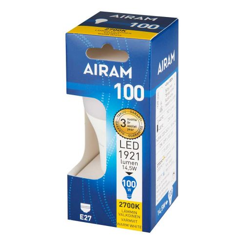AIRAM LED CLASSIC A60 14,5W E27 1921 LM, 15 000H