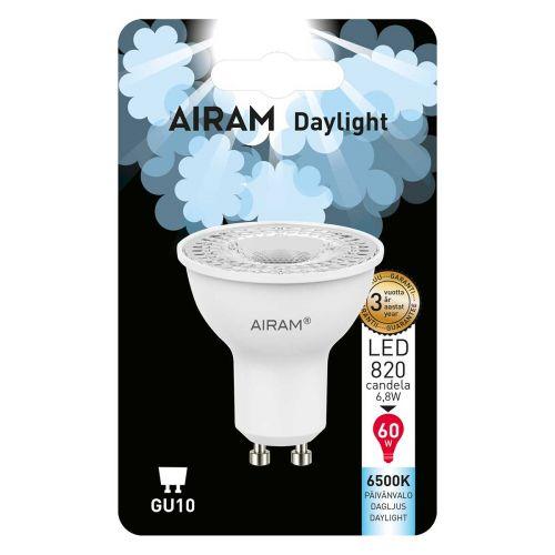 AIRAM LED PÄIVÄNVALOLAMPPU PAR16 6,8W GU10 485 LM/820CD, 15 000