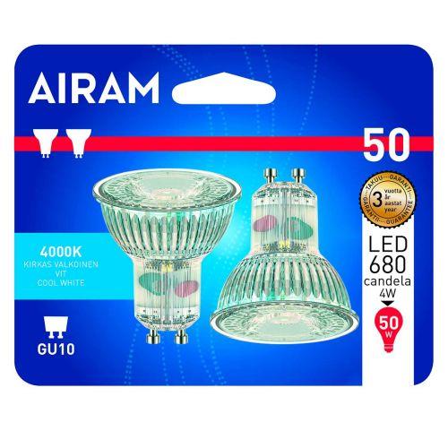 AIRAM LED 2PACK BL KIRKASLASI 4W GU10, PAR16, 4000K 345LM/680CD