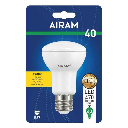 AIRAM LED KOHDELAMPPU 6W E27 R63, KULMA 110 470LM, 15 000H. TO