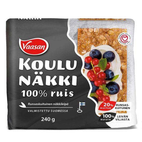 VAASAN 100% RUIS NÄKKILEIPÄ  240 G