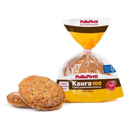 PULLAPIRTTI KAURA100 4KPL HALKAISTU KAURALEIPÄ 240 G
