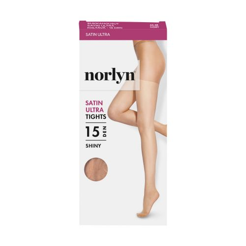 NORLYN SATIN ULTRA 15 DEN SUKKAHOUSUT, 9201 IVORY 44-48