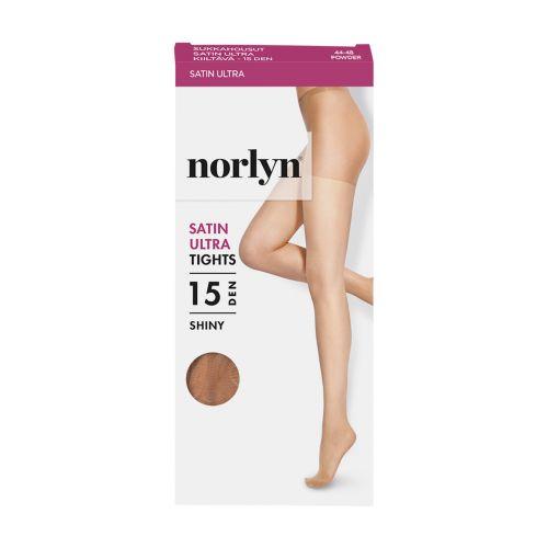 NORLYN SATIN ULTRA 15 DEN SUKKAHOUSUT, 9202 POWDER 44-48