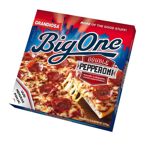 GRANDIOSA BIGONE PAN PIZZA DOUBLE PEPPERONI 570 G