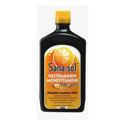 SANA-SOL MONIVITAMIINIVALMISTE 250 ML