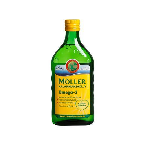 MÖLLER KALANMAKSAÖLJY NATURAL 500 ML