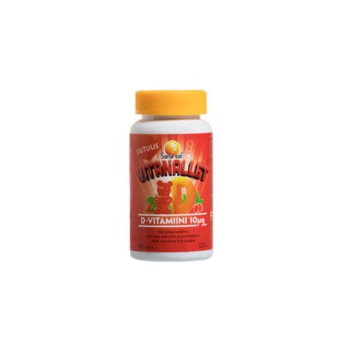 Sana-sol Vitanallet D-vitamiini mansikka-vadelma 60kpl