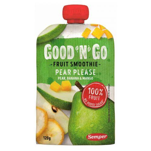 SEMPER GOOD'N'GO FRUIT SMOOTHIE PEAR PLEASE 120 G