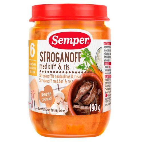 SEMPER STROGANOFFIA NAUDANLIHAA RIISIÄ 6KK 190 G
