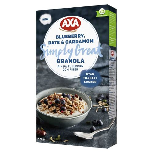 AXA GRANOLA BLUEBERRY DATE&CARDAMOM 475 G