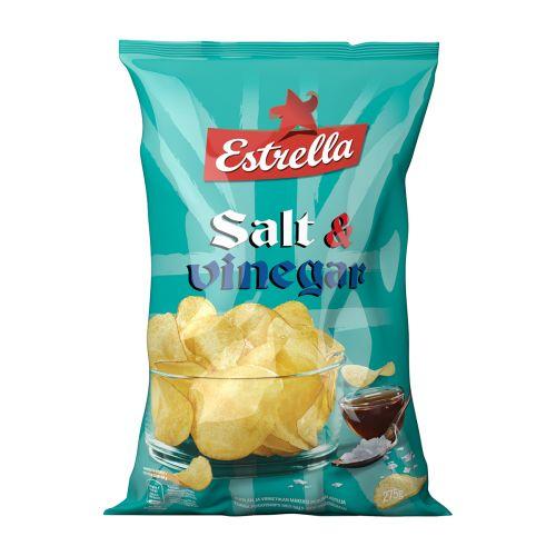 ESTRELLA SALT & VINEGAR CHIPS 275 G