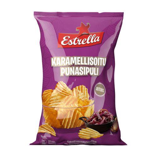 ESTRELLA KARAMELLISOITU PUNASIPULI CHIPS 275 G