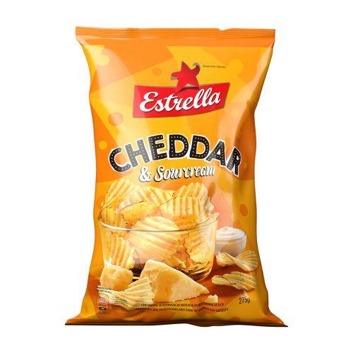 ESTRELLA CHEDDAR & SOURCREAM CHIPS 275 G
