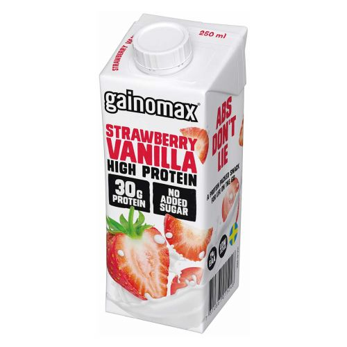 GAINOMAX HIGH PROTEIN DRINK STRAWBERRY-VANILLA 250 ML