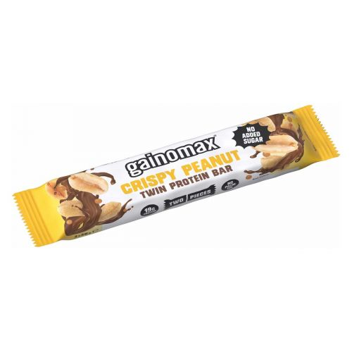 GAINOMAX TWIN PROTEIN BAR CRISPY PEANUT 50 G