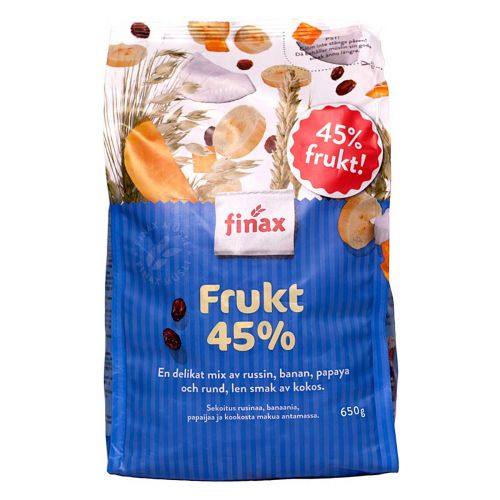 FINAX MYSLI HEDELMÄ 45%  650 G