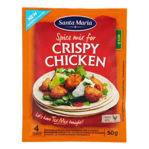 SANTA MARIA TEX MEX CRISPY CHICKEN SPICE MIX 50 G