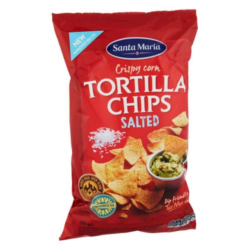 SANTA MARIA TEX MEX TORTILLA CHIPS SALTED 185G