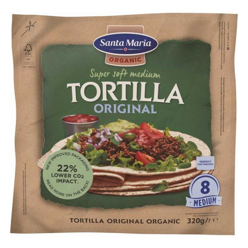 SANTA MARIA  TORTILLA WHEAT LUOMU 320 G
