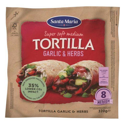 SANTA MARIA  TEX MEX TORTILLA  HERBS-GARLIC 320 G