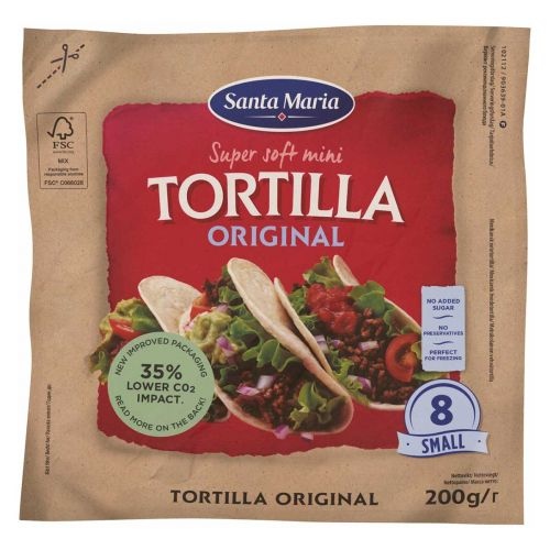 SANTA MARIA  TEX MEX TORTILLA SMALL 200 G