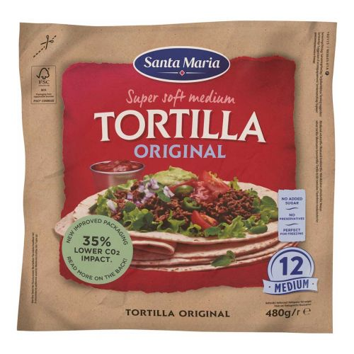SANTA MARIA TEX MEX TORTILLA MEDIUM 480 G