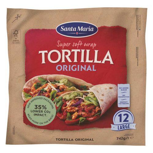 SANTA MARIA TORTILLA ORIGINAL LARGE 12KPL 742 G