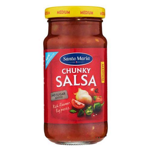SANTA MARIA TEX MEX CHUNKY SALSA MEDIUM 230 G
