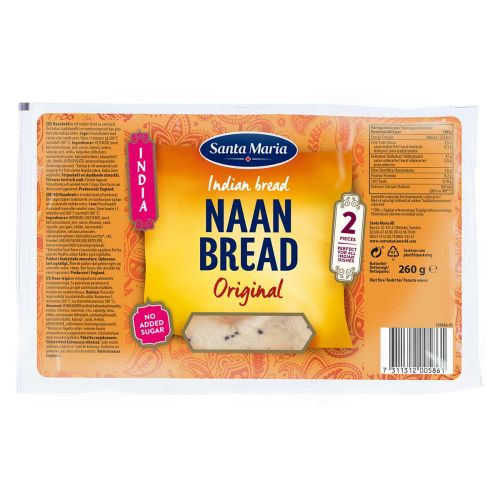 SANTA MARIA INDIA NAAN BREAD ORIGINAL 260 G