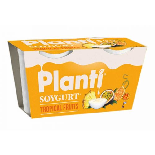 PLANTI SOYGURT TROPICAL FRUITS 150G 2-PACK 300 G