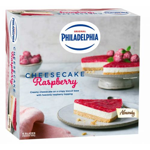 ALMONDY PHILADELPHIA CHEESECAKE RASPBERRY 400 G